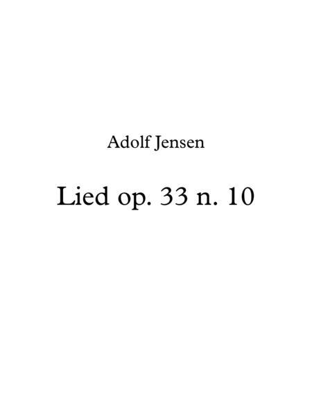 A. Jensen, Lied (Song) op. 33 n. 10