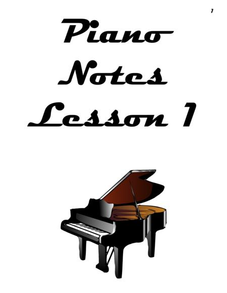 Piano Notes Lesson 1