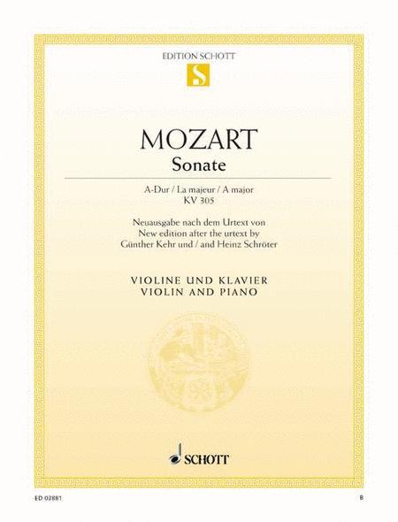 Sonata A major, K. 305