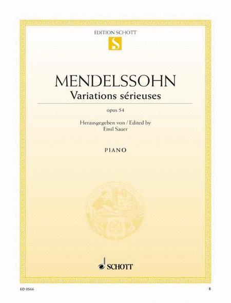 Variations serieuses, Op. 54