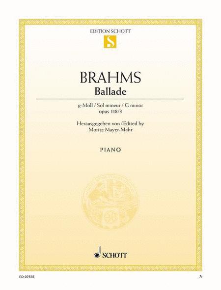 Ballade G minor, Op. 118/3