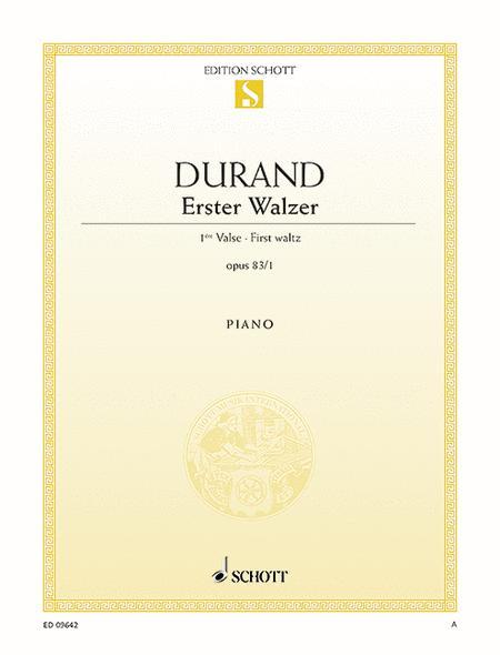 First waltz E-flat major, Op. 83/1