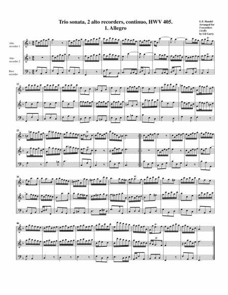 Trio sonata HWV 405