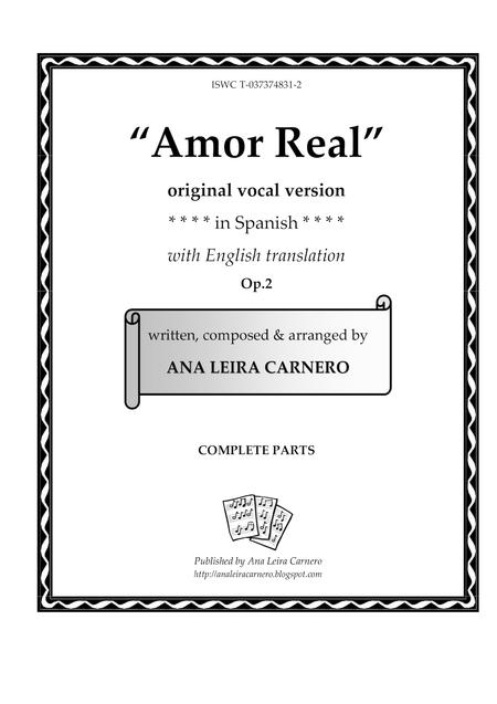 AMOR REAL, original vocal version (Complete Parts)