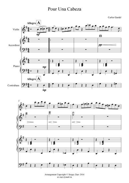 Gardel - Pour Una Cabeza (quartet)
