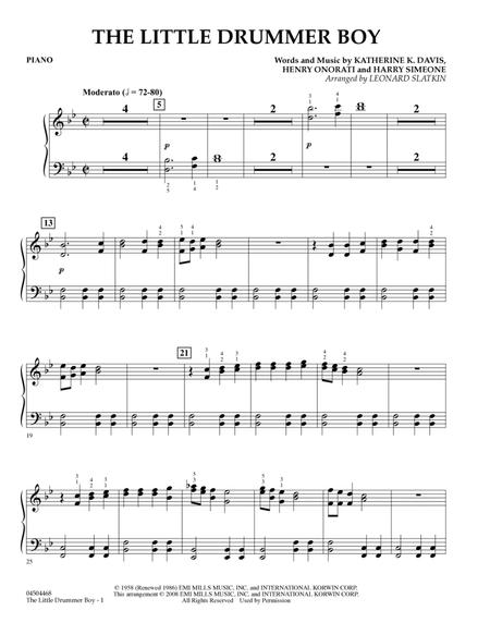 The Little Drummer Boy - Piano
