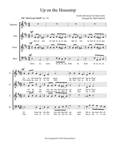 Up on the Housetop SATB a capella