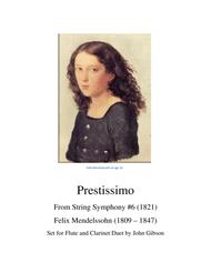 Prestissimo for Flute and Clarinet