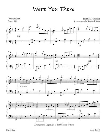 Were You There (Piano Solo)