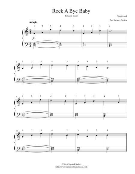 Rock A Bye Baby - for easy piano