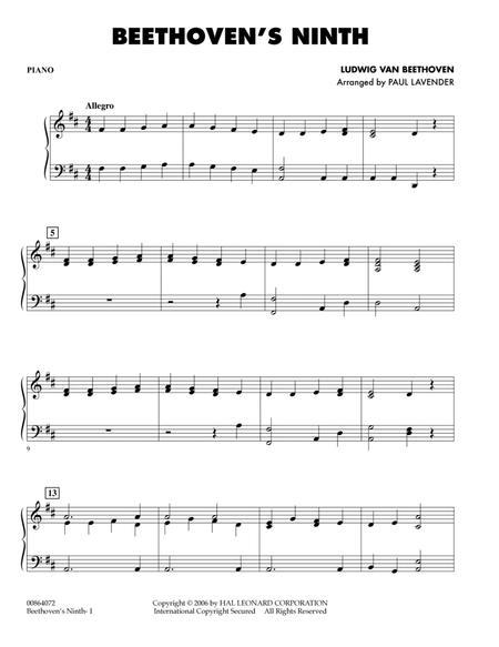 Beethoven's Ninth - Piano
