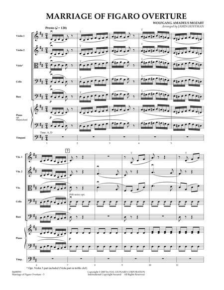 Overture to Marriage of Figaro - Full Score
