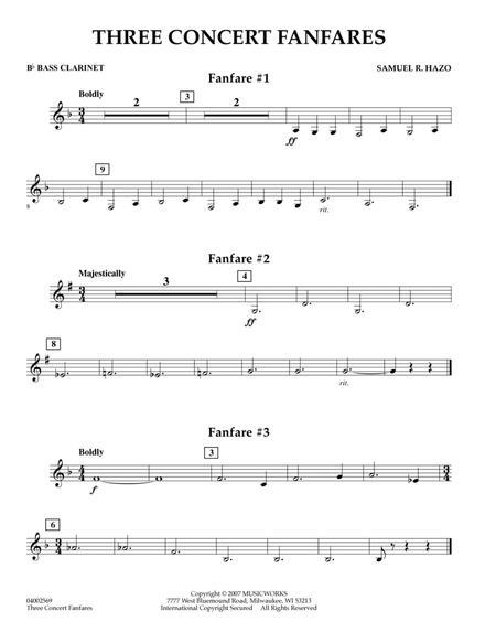Three Concert Fanfares - Bb Bass Clarinet