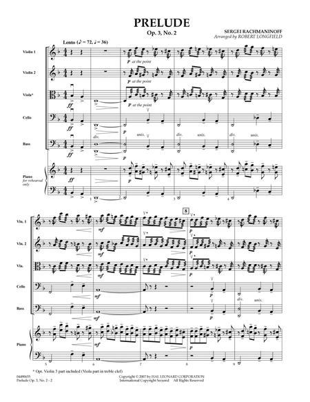 Prelude Op.3, No. 2 - Full Score