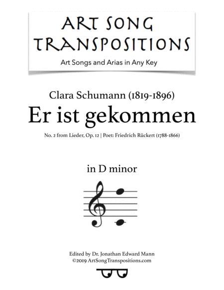 Er ist gekommen, Op. 12 no. 2 (D minor)