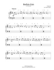 Buffalo Gals - for easy piano