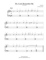 Do, Lord, Remember Me - for easy piano