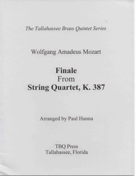 Finale from String Quartet, K. 387