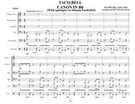 TACO BELL CANON IN Bb - Brass Quartet with optional Acoustic Bass and Drum Set parts - Bossa Nova