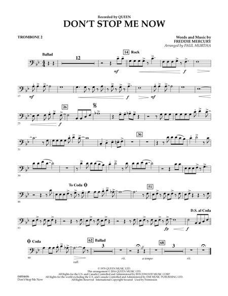 Don't Stop Me Now - Trombone 2
