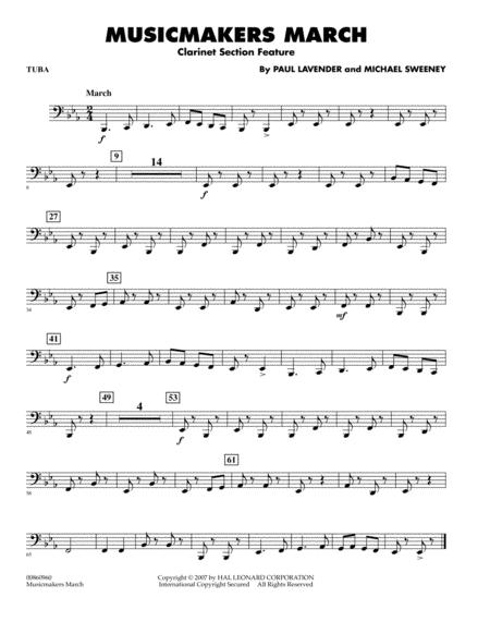 Musicmakers March (Clarinet Section Feature) - Tuba