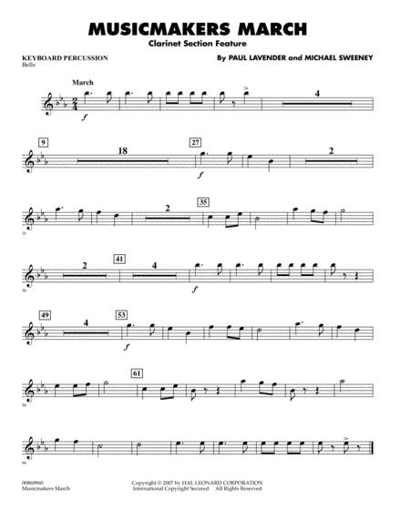 Musicmakers March (Clarinet Section Feature) - Keyboard Percussion