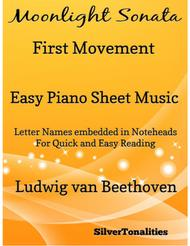 Moonlight Sonata First Movement Easy Piano Sheet Music