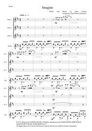Imagine for flute trio and guitar