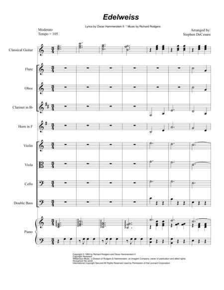 Edelweiss (for String Quartet / Woodwind Quartet)