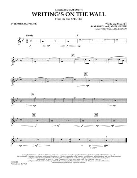 Writing's on the Wall (from Spectre) - Bb Tenor Saxophone