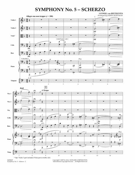 Symphony No. 5 Scherzo - Full Score