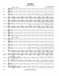 Mars (from The Planets) - Conductor Score (Full Score)