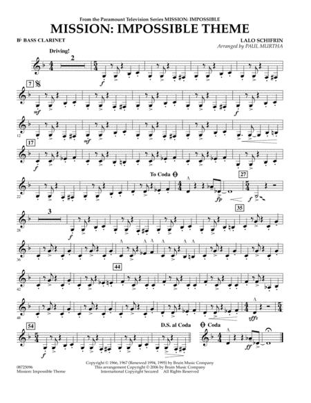 Mission: Impossible Theme - Bb Bass Clarinet