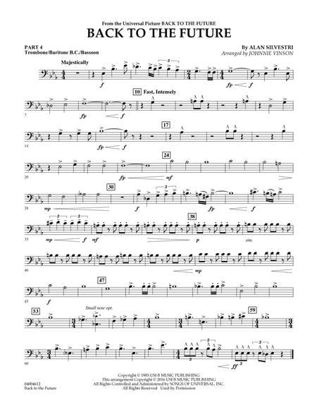 Back to the Future (Main Theme) - Pt.4 - Trombone/Bar. B.C./Bsn.