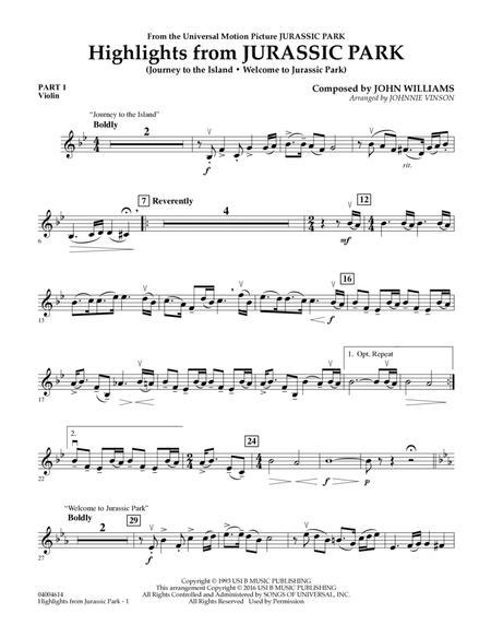 Highlights from Jurassic Park - Pt.1 - Violin