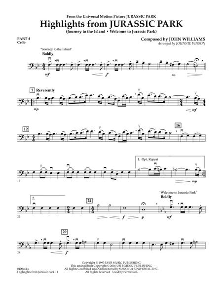 Highlights from Jurassic Park - Pt.4 - Cello