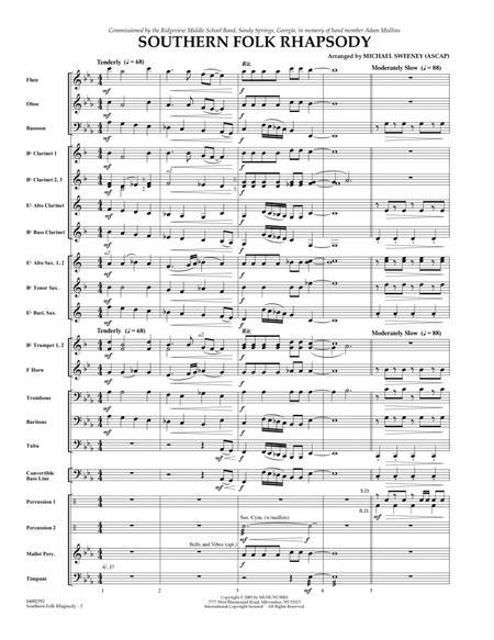 Southern Folk Rhapsody - Full Score