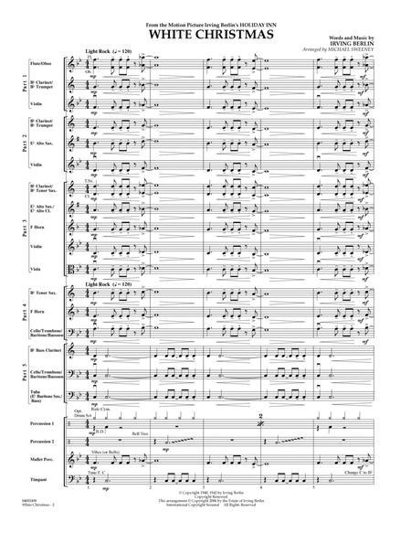 White Christmas (Flex-Band) - Conductor Score (Full Score)