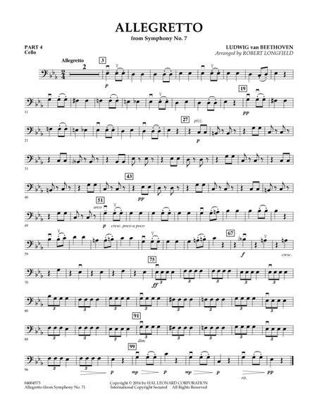 Allegretto (from Symphony No. 7) - Pt.4 - Cello