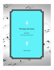 The Days are Gone - piano solo