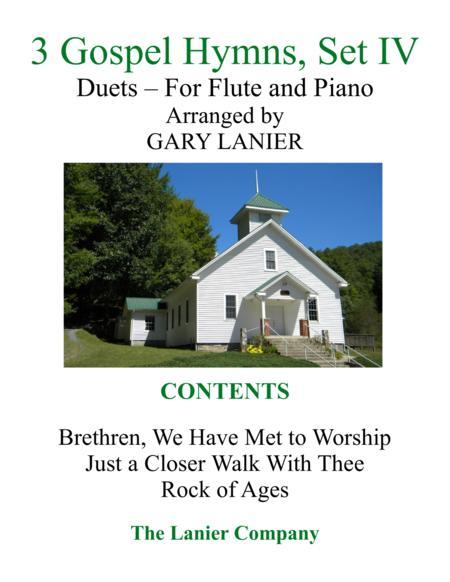 Gary Lanier: 3 GOSPEL HYMNS, Set IV (Duets for Flute & Piano)
