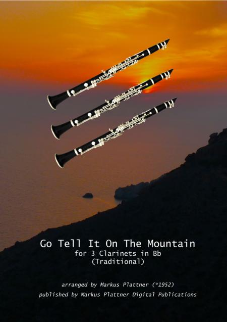 'Go Tell It On The Mountain' for 3 Clarinets in Bb