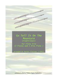 'Go Tell It On The Mountain' for Flute Trio (2 flutes and alto flute)