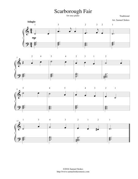 Scarborough Fair For Easy Piano By Traditional Digital Sheet Music For Download Print S0 103241 Sheet Music Plus