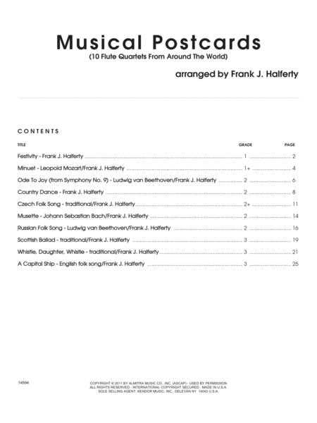 Musical Postcards (10 Flute Quartets From Around The World) - Full Score