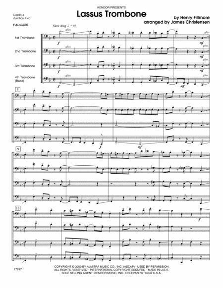 Lassus Trombone - Full Score