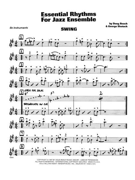 Essential Rhythms For Jazz Ensemble - Eb Instruments