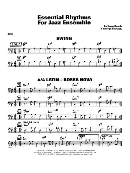 Essential Rhythms For Jazz Ensemble - Bass