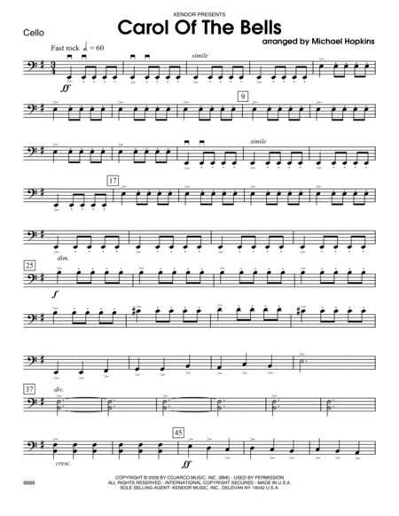 Carol of the Bells - Cello