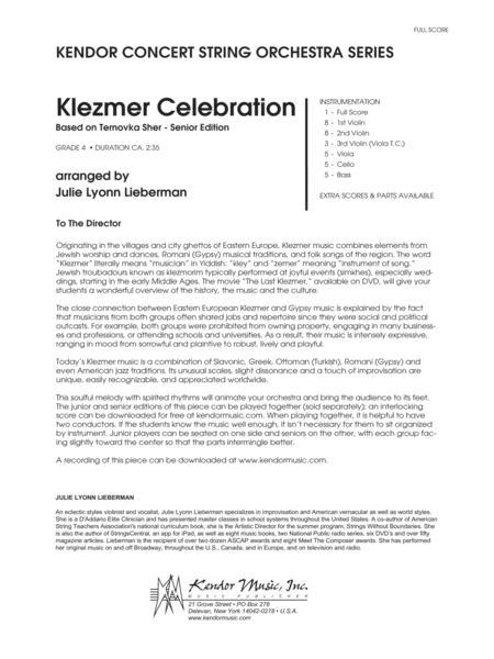Klezmer Celebration (based on Ternovka Sher) (Senior Edition) - Full Score